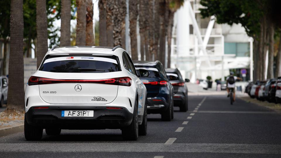 A chegada dos 3 carros a Lisboa