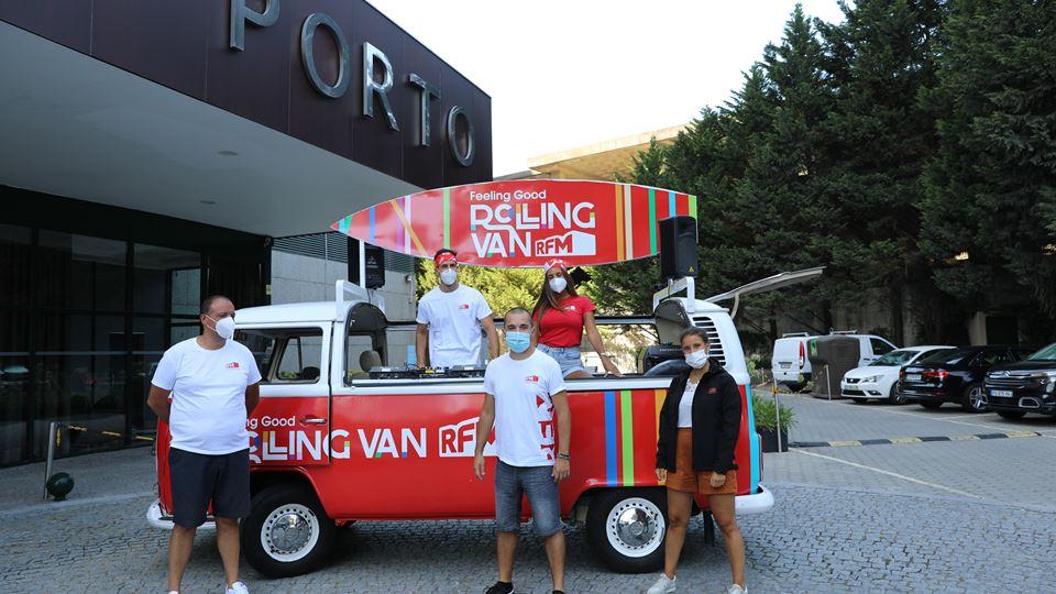 DJ Pedro Simões com a RFM Feeling Good Rolling Van