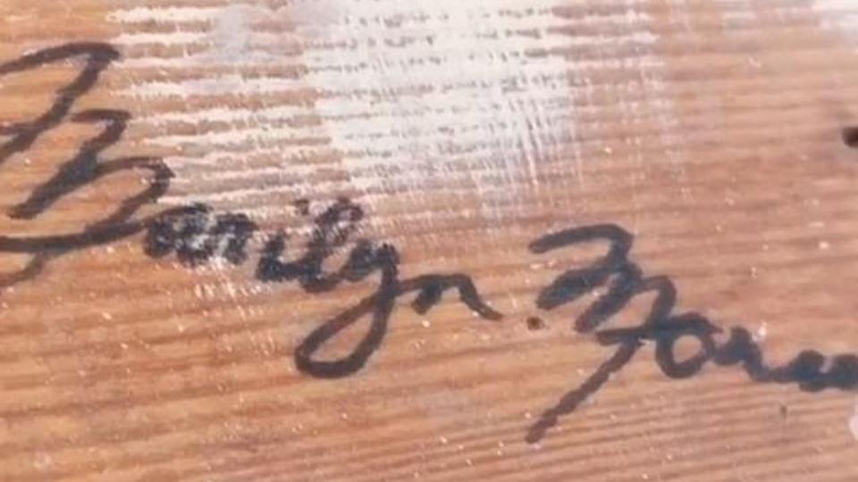 Assinatura de Marilyn
