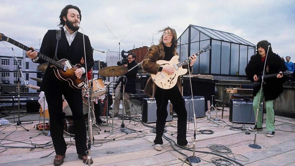Beatles concerto no telhado