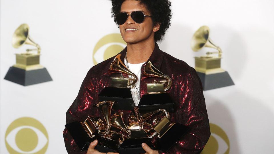 Bruno Mars: o grande vencedor ...