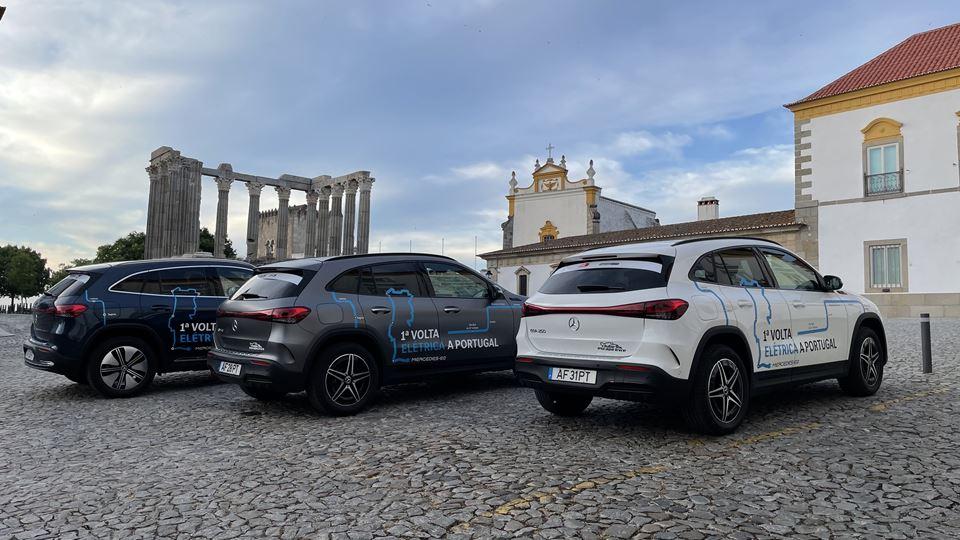 EQA da Mercedes junto ao Templo de Diana em Évora