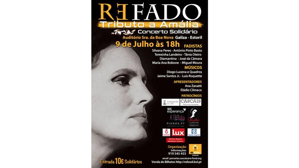 Cartaz do concerto solidário Refado