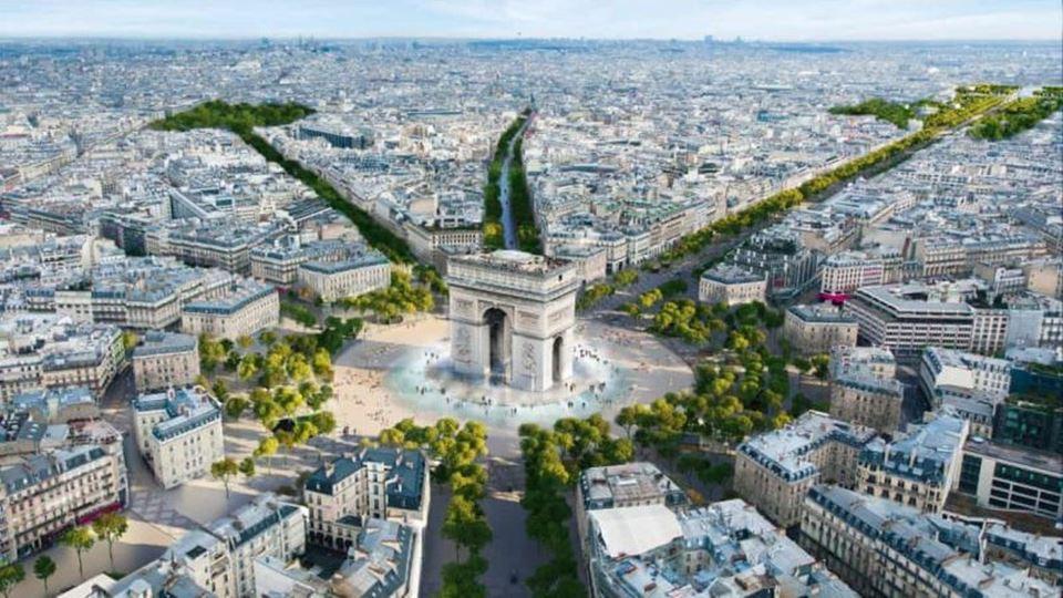 Les Champs-Élysées em Paris vã...