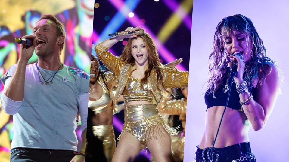 Miley Cyrus, Shakira e Coldpla...