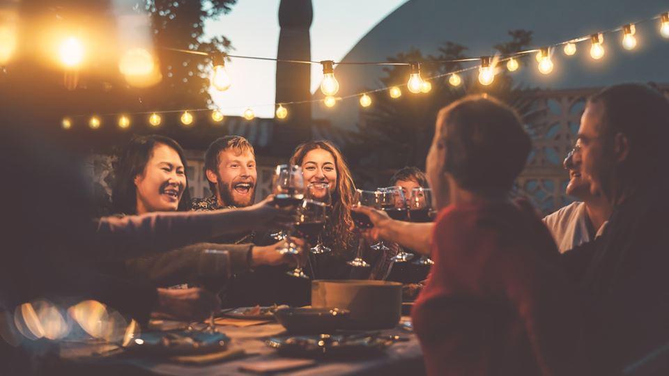 churrasco com amigos