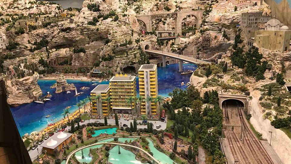 Cidade em miniatura no museu