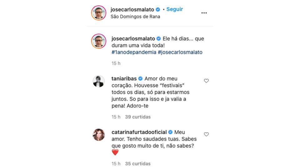 Comentários na publicação de José Carlos Malato