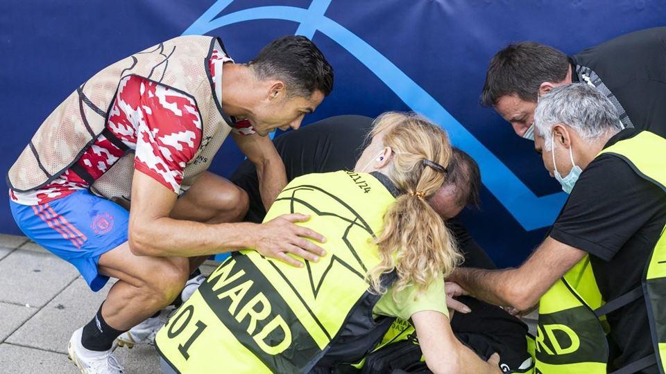 Segurança atingida por Ronaldo...