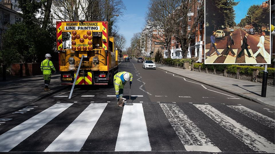 Passadeira Abbey Road não esca...