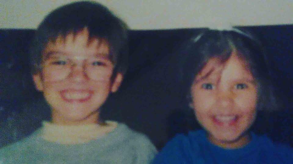 Daniel Fontoura com a irmã
