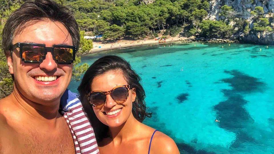 Daniel Fontoura com a mulher