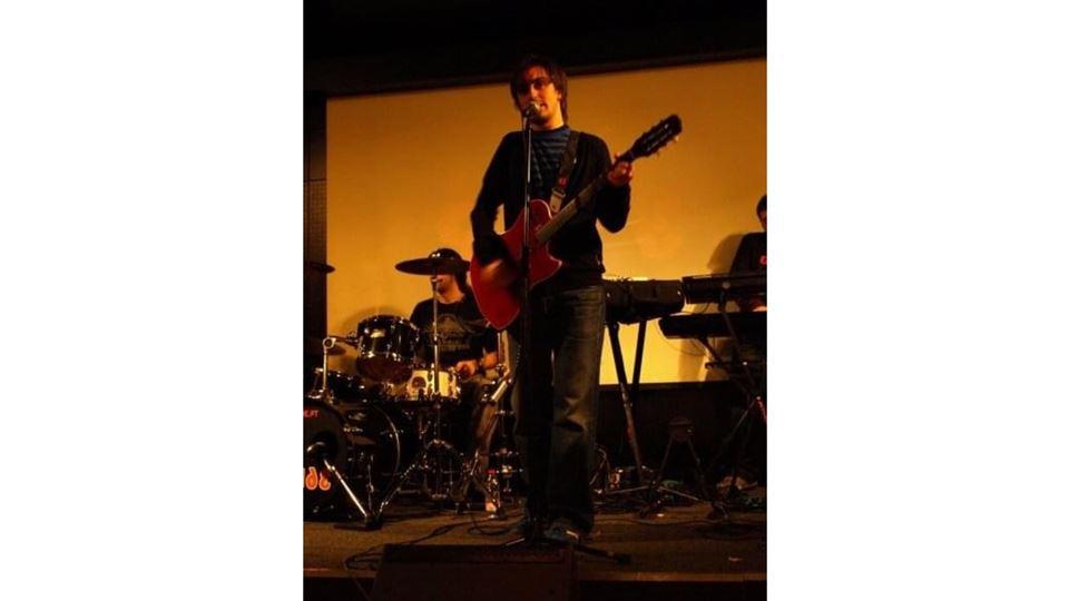 Daniel Fontoura na banda Slide