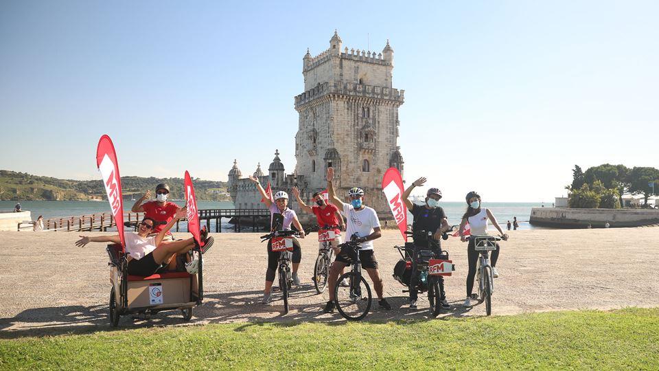 A RFM pedalou pelas ciclovias ...
