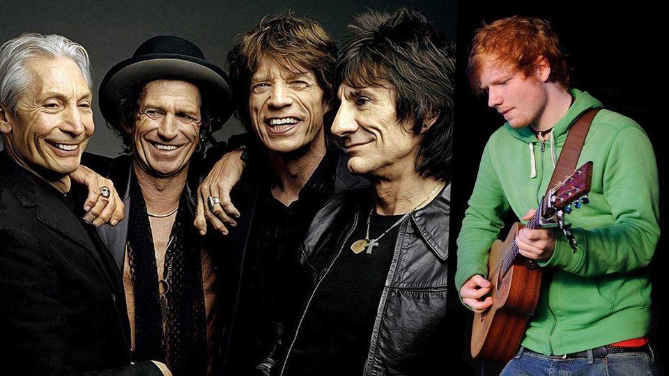 Rolling Stones e Ed Sheeran pe...