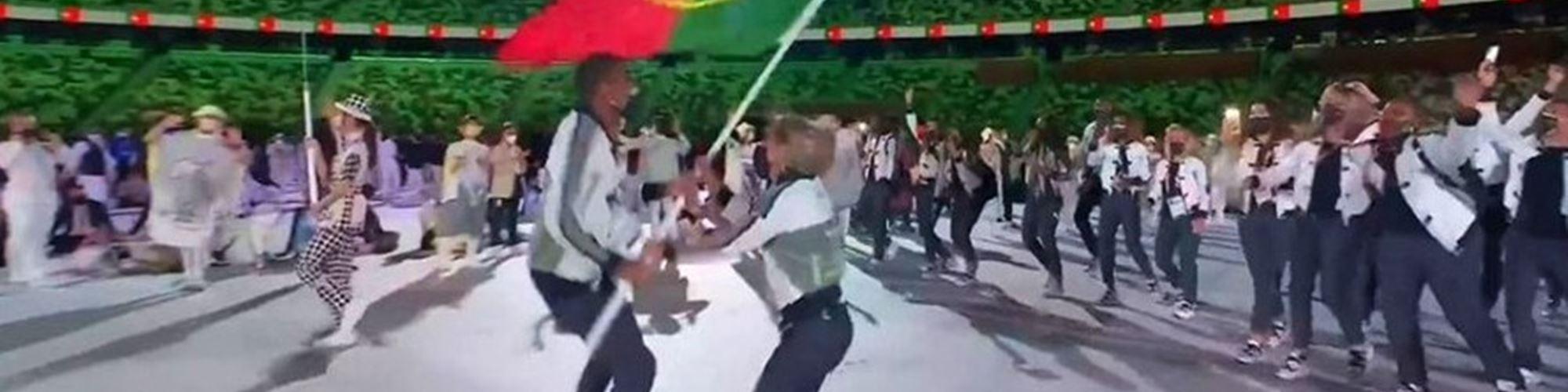 Entrada de Portugal no Estádio Olímpico de Tóquio torna-se viral. Vê aqui o momento