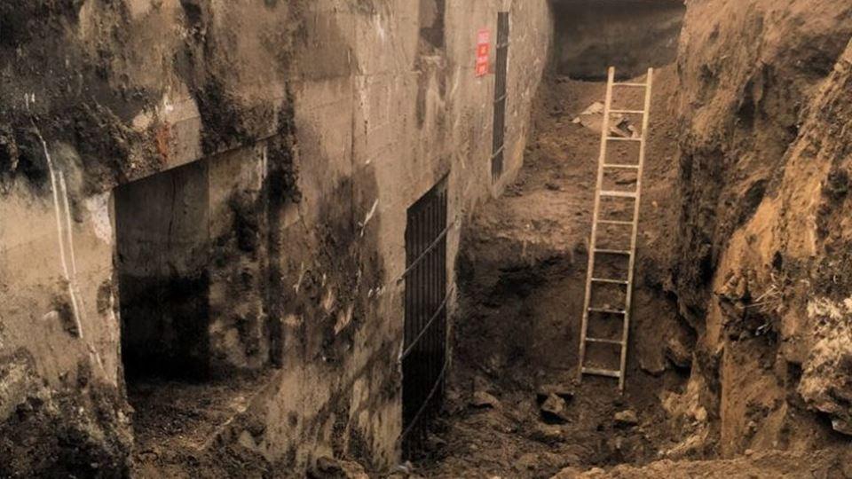 Exterior do bunker - antes