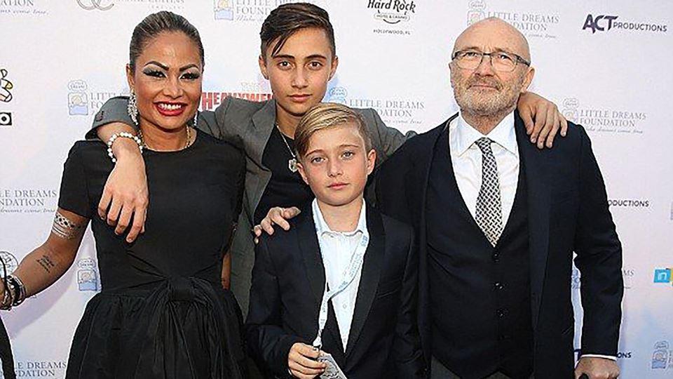 Filhos e mulher de Phil Collins