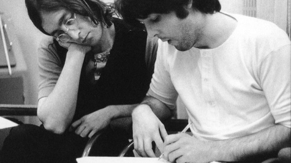 John Lennon e Paul McCartney 1968