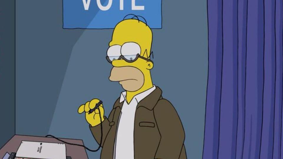Simpsons retratam as eleições ...