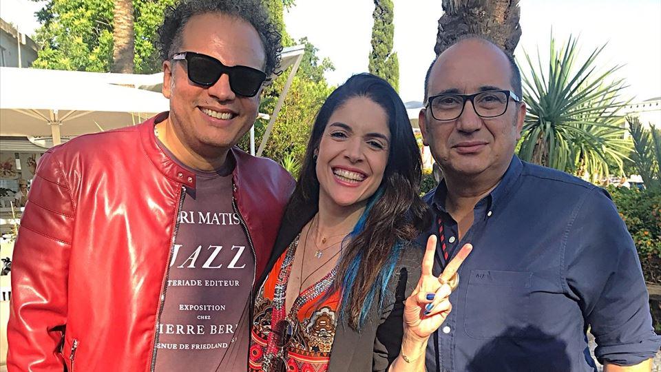 Antonio Mendes com Zé Ricardo e Roberta Medina