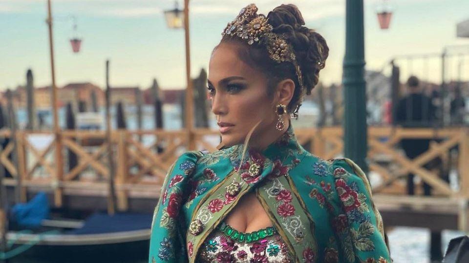 Jennifer Lopez está em Veneza ...