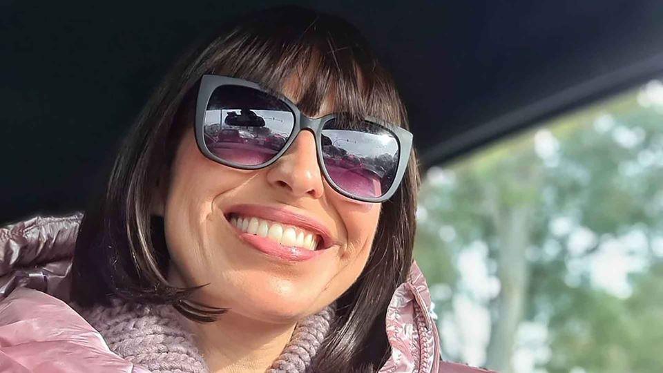 Joana Cruz a sorrir