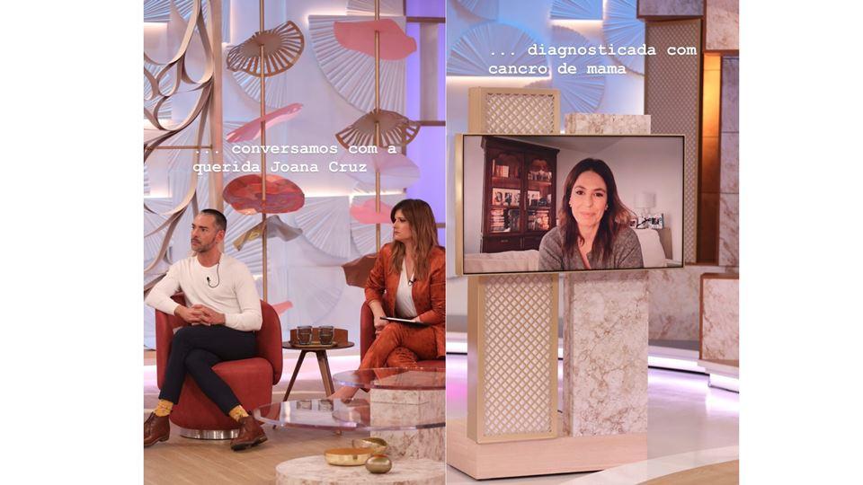Joana Cruz no programa Dois às 10