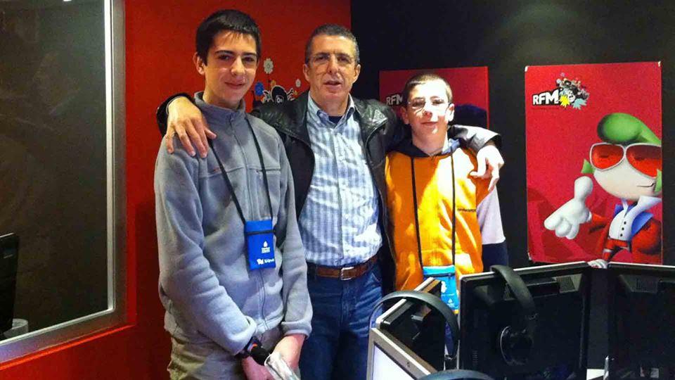 João Porto com os dois filhos