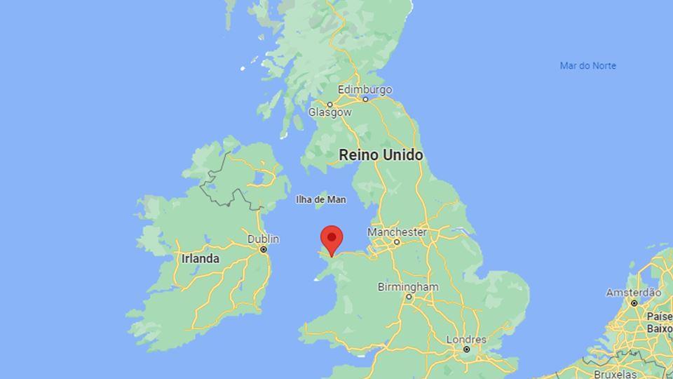 Llanfair PG no mapa