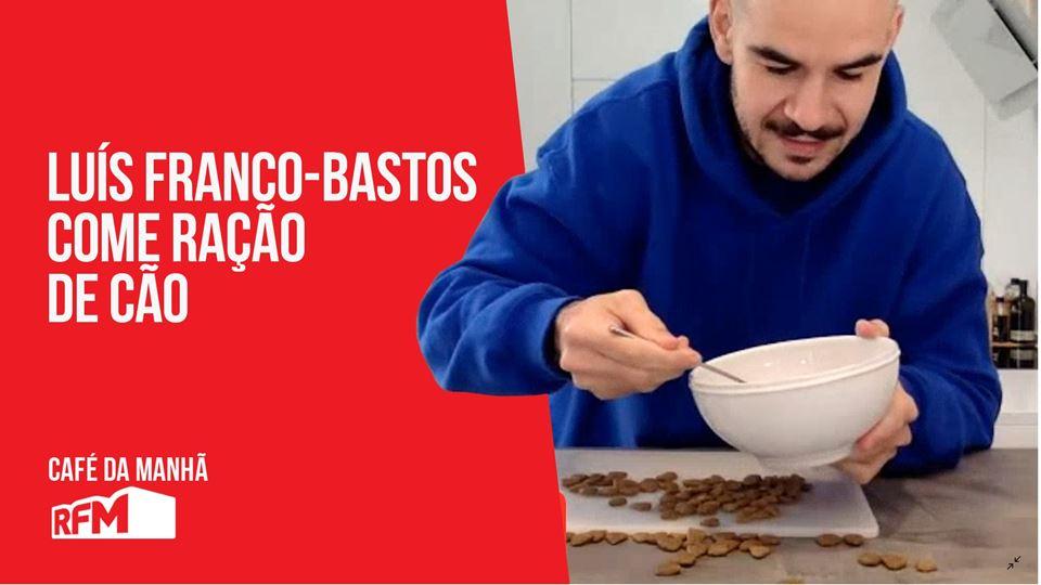 Luis Franco-Bastos come ração