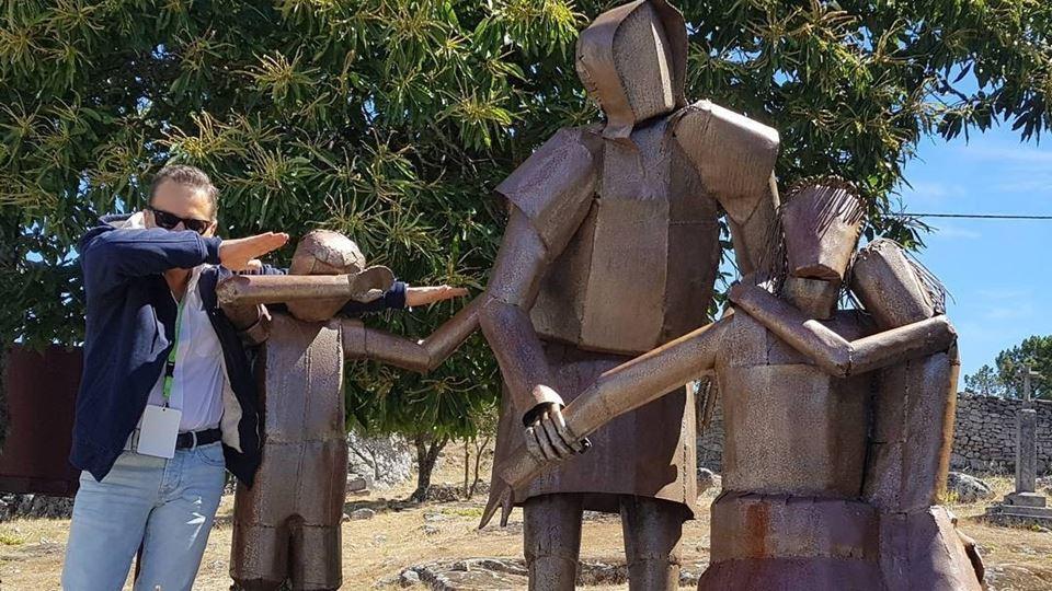 Marcos André estátuas