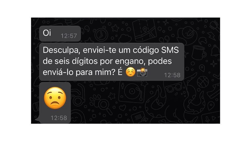 mensagem fraudulenta whatsapp