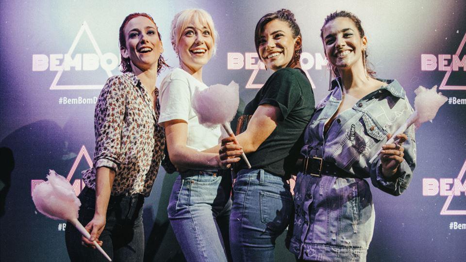 As Doce de Bem Bom 2020 : Lia Carvalho (Teresa Miguel), Ana Marta Ferreira (Laura Diogo), Carolina Carvalho (Lena Coelho) e Bárbara Branco (Fátima Padinha)