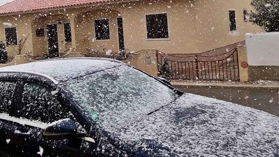 O Alentejo ficou coberto de neve