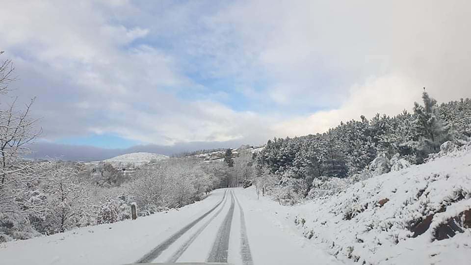 Imagens de neve em Portugal in...