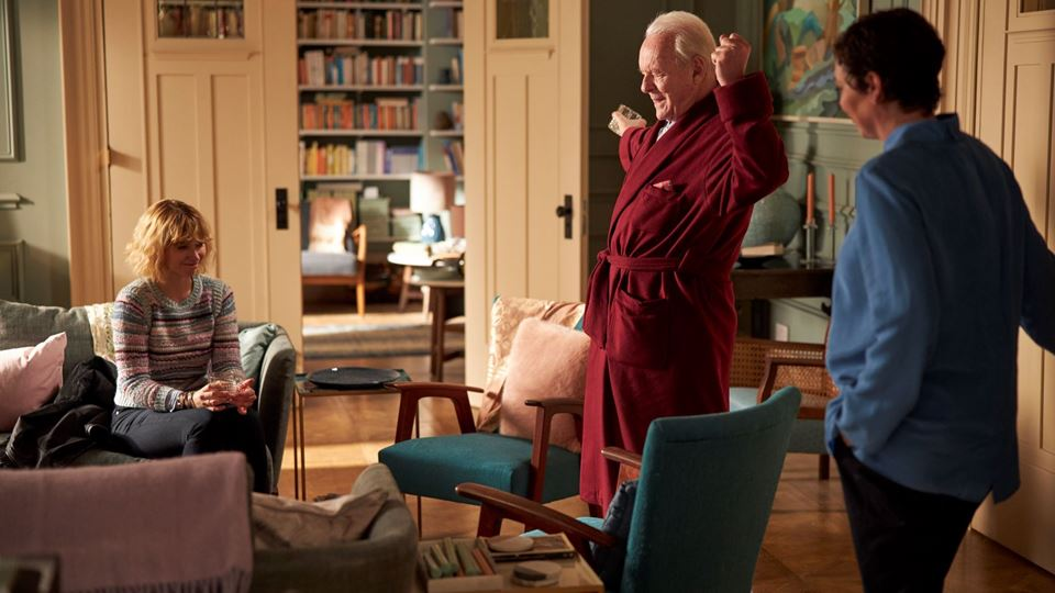 O Pai - Imogen Poots (Laura), Olivia Coleman (Anne) e Anthony Hopkins ( Anthony)
