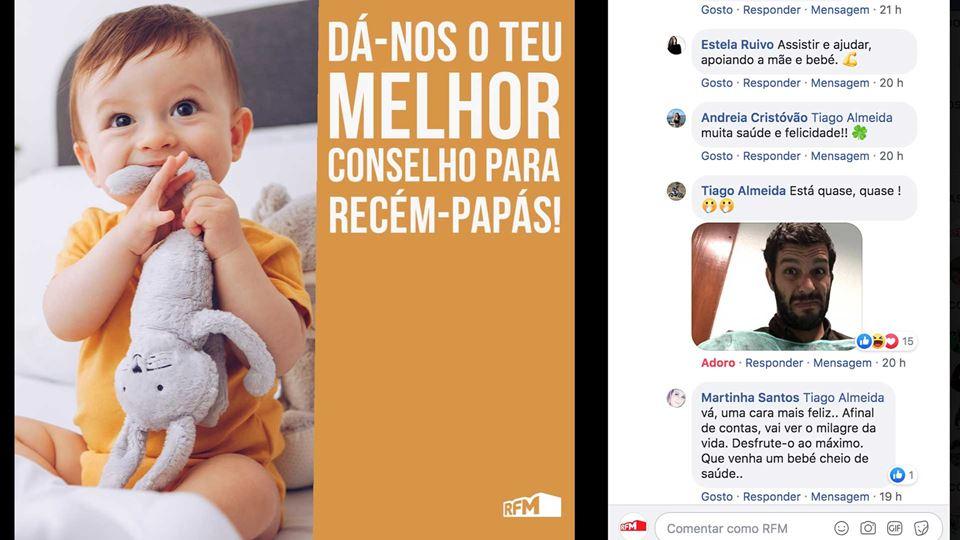 Ouvinte da RFM documenta através do Facebook os momentos que passou antes de ser pai