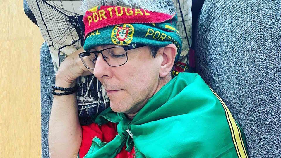 Paulo Fragoso a torcer por Portugal