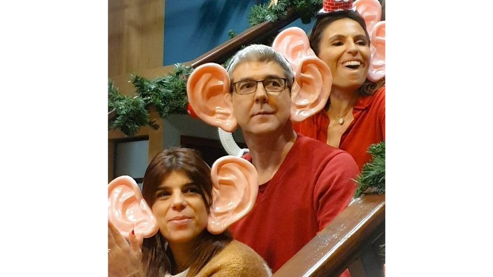 Paulo Fragoso com Joana Cruz e Catarina Figueiredo