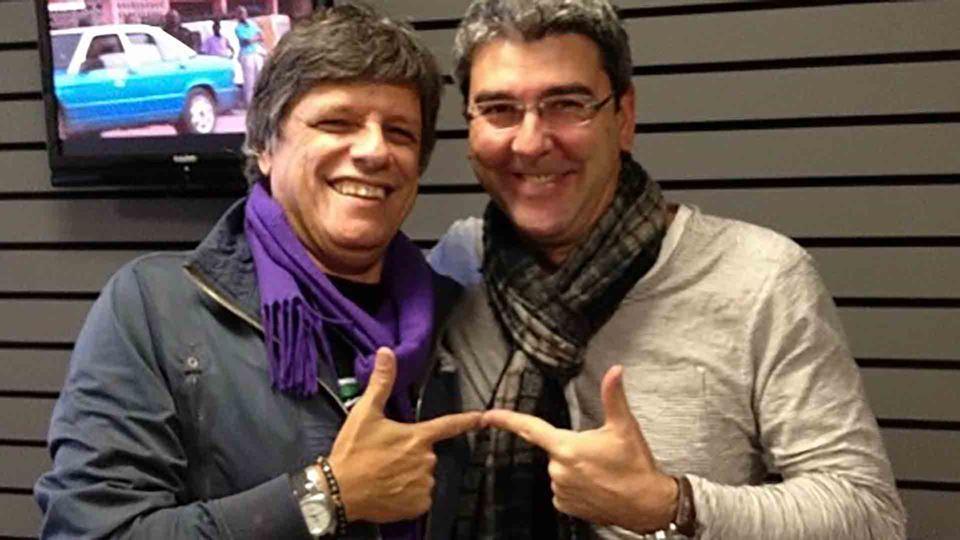 Paulo Fragoso com Zé Pedro