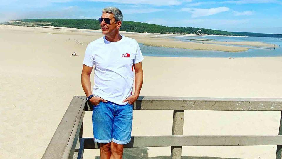 Paulo Fragoso na praia