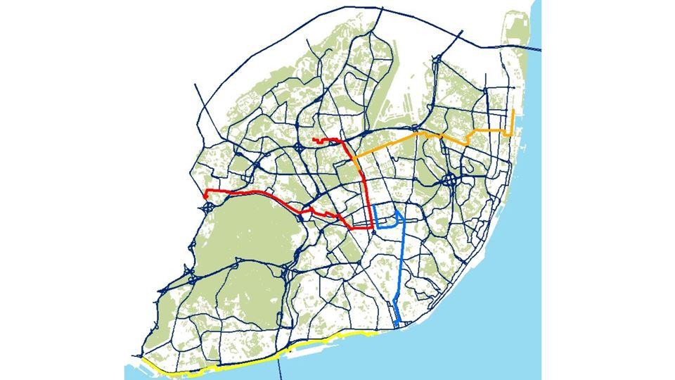 Percursos completos de bicicleta