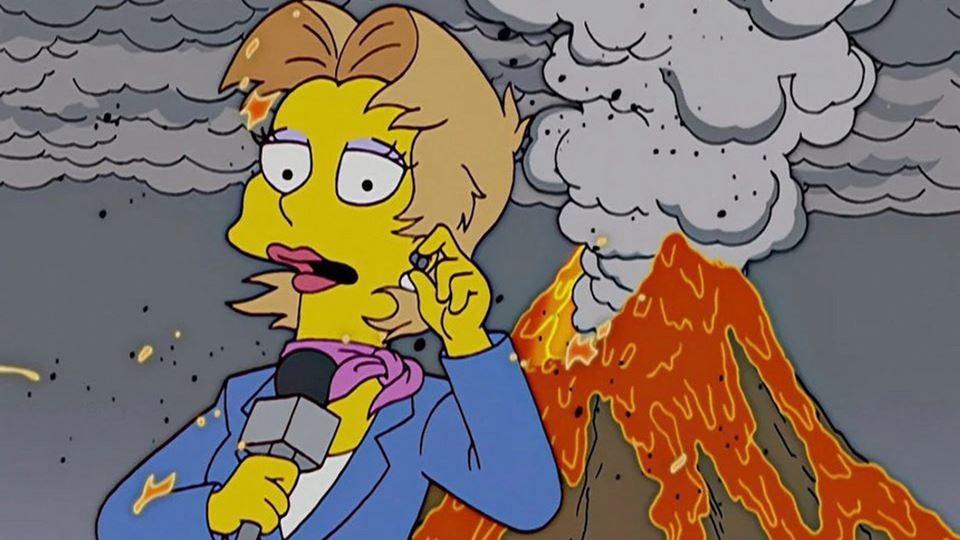 """Os Simpsons"" previram a erupç..."