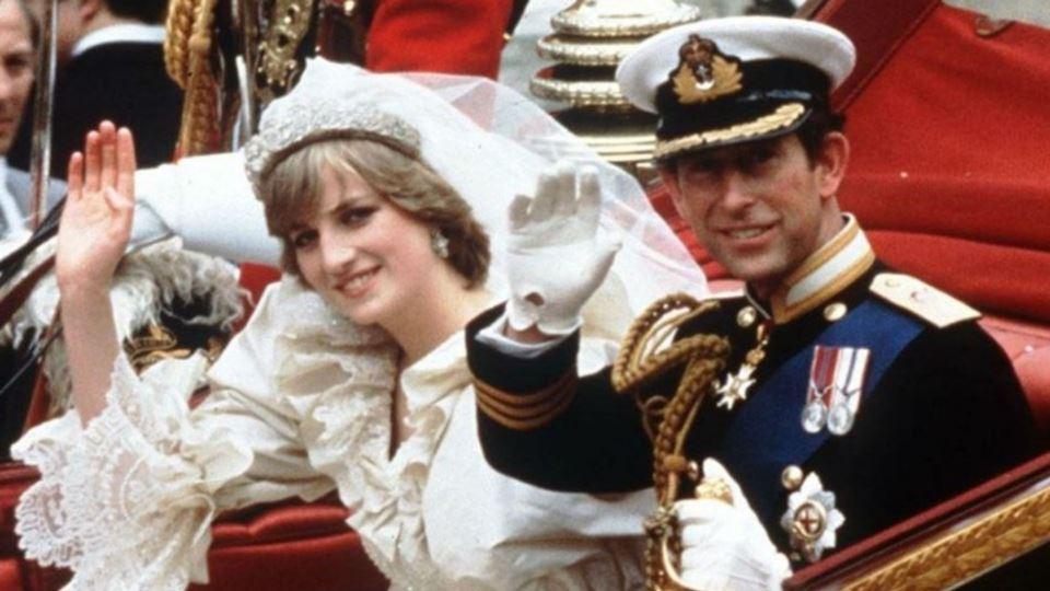 Princesa Diana e o príncipe Carlos