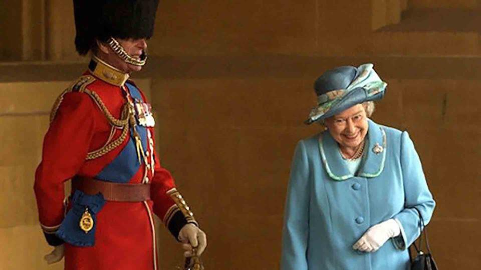 Fotografia da rainha Isabel II...