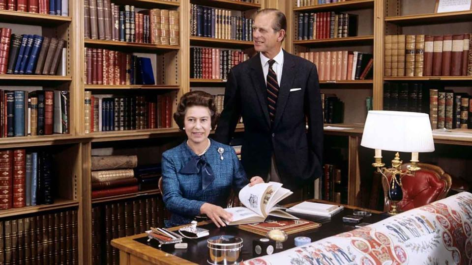 Rainha Isabell II e príncipe Philip