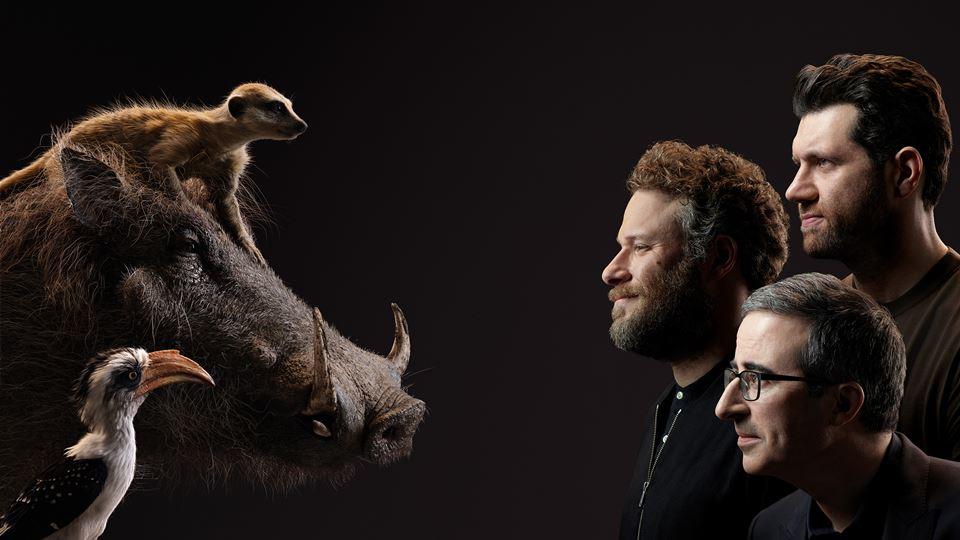 Rei Leão - John Oliver, Seth Rogen e Billy Eichner com Zazu