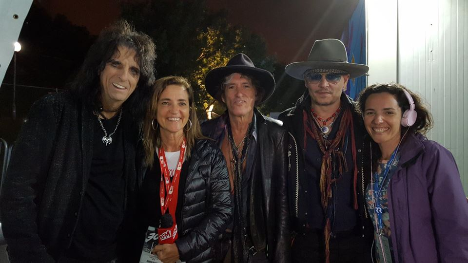 Johnny Depp (músico) com os Hollywood Vampires e a RFM no Rock in Rio Lisboa 2016