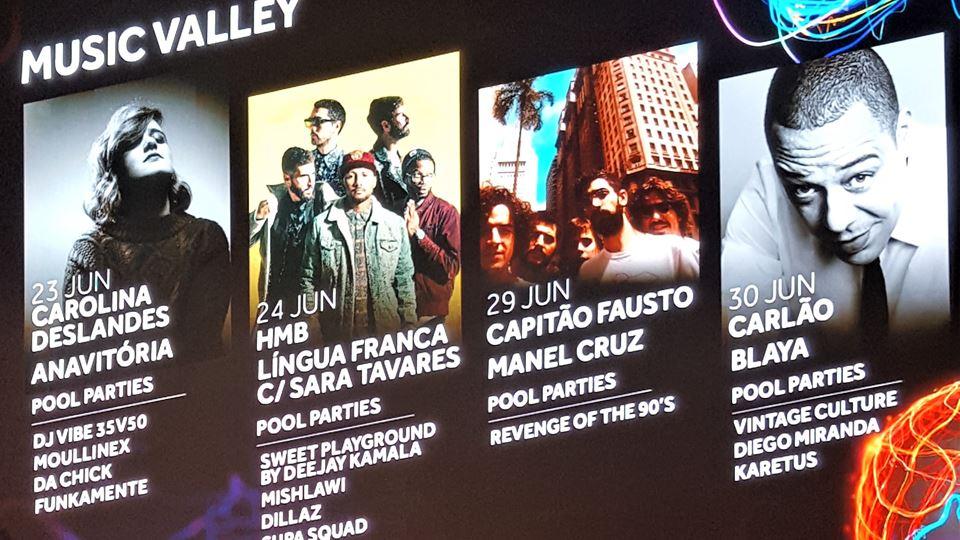 Programação Music Valley Rock in Rio Lisboa 2018